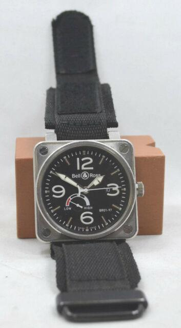 100% Authentic Bell & Ross Aviation Br01-97 Power Reserve Automatic Mens Strap