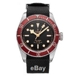 100% Authentic New Tudor Heritage Black Bay Leather Strap Men's Watch 79220r