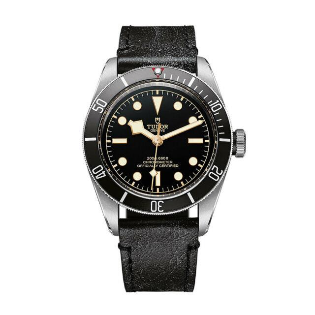 100% Authentic New Tudor Heritage Black Bay Leather Strap Watch M79230n-0008