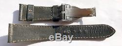 22mm Tudor Heritage Black Bay Clasp and Vintage Leather Watch Strap