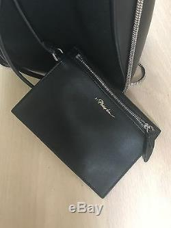 3.1 Phillip Lim Small Soleil Bucket Bag Chain Strap Black Leather Suede Combo