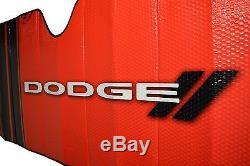 5 Pc Dodge Elite Black Syn. Leather Seat Covers + Sun Shade Wind Shield Combo