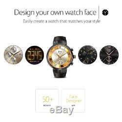 ASUS ZenWatch 3 1.39-Inch Amoled Smart Watch with Black Leather Strap