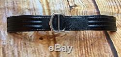 AUTH CARTIER ROADSTER 17mm BLACK LEATHER STRAP AND DEPLOYMENT BUCKLE