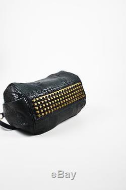 Alexander Wang Black Pebbled Leather Rocco Duffel Bag With Shoulder Strap