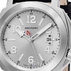 Anonimo Men's Sailor Swiss Automatic Black Leather Strap Watch AM200001003A01