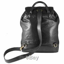 Authentic Chanel Lambskin Leather One Strap Drawstring Vintage Backpack Bag