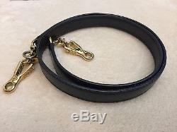 Authentic Hermes Kelly 28 Black Leather Strap Box Calf