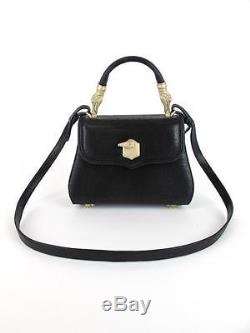 Barry Kieselstein-Cord Black Leather Bag with Gold Alligator with Strap So CLASSIC
