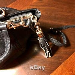 Black authentic leather Gucci purse with adjustable straps
