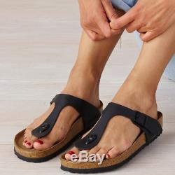 Brand New! Birkenstock Gizeh Adjustable Strap Leather Thong Sandals -Select Size
