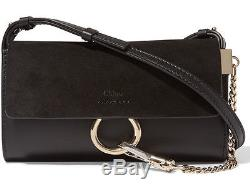 Brand New Chloe Faye Suede and Leather Wallet on Strap/ Mini Shoulder Bag