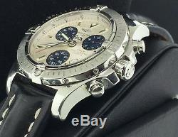 Breitling Colt Chronograph 39mm Stainless Steel White Dial Black Strap A77380