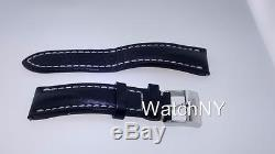 Breitling OEM 100% Authentic Original Black Leather Strap with Buckle 22mm