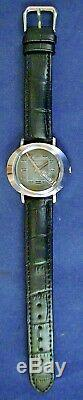 Bulova 1973 vintage d&d automatic ss watch with Swiss 23j mvmt & new leather strap