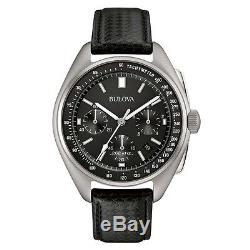 Bulova 96B251 Mens Special Edition Moon Black Leather Strap Watch RRP £489