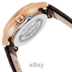 Bulova Classic Men's Automatic Brown Leather Strap 45mm Watch 97A109