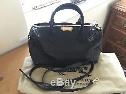 Burberry Black Grainy Leather Alchester Bag With Strap £995 VGC