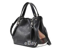 Burberry Maidstone Tote Small Shoulder Bag Black Leather New