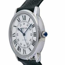 Cartier Ronde Solo WSRN0021 Automatic Men's Watch Silver Dial 36mm