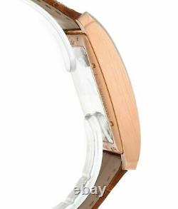 Cartier Tank MC 18k Rose Gold Brown Leather Strap Automatic Men's Watch W5330001