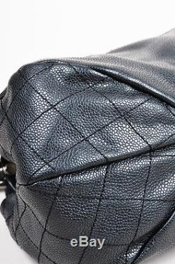 Chanel Black Caviar Leather Quilted Chain Strap'CC' Shoulder Bag