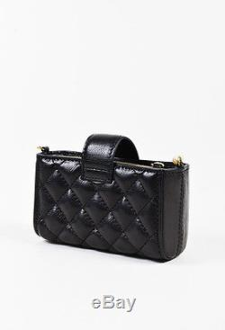 ca94aabcc4b2 Chanel Black Lambskin Leather Quilted Pearl Shoulder Strap Mini Crossbody  Bag