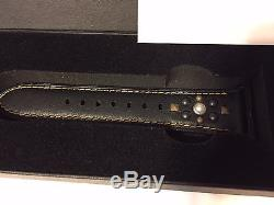 Coach APPLE Watch Studs Black Leather 38mm Watch Strap Band W6194 with Gift Box