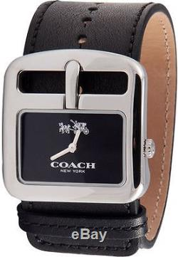 Coach Duffle Buckle Black Dial Leather Strap Ladies Watch 14502324
