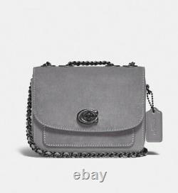 Coach Madison Shoulder Bag 16 Grey Mixed Leather