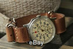 Exclusive Pobeda Wrist Watch for Mens rare Vintage + New Strap