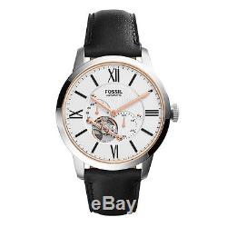 Fossil Black Leather Strap Mens Watch ME3104