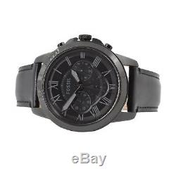 Fossil FS5132 Men's Grant Black Leather Strap Chronograph Watch