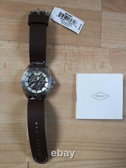 Fossil ME3083 Men's Automatic Watch Brown leather strap