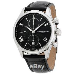 Frederique Constant Runabout Black Dial Leather Strap Men's Watch FC392MDG5B6