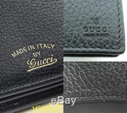 GUCCI black SWING gold TRADEMARK wallet with strap MINI bag NIB Authentic $660