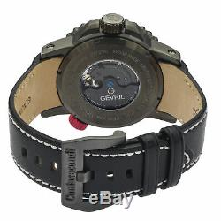 GV2 by Gevril Men's Contasecondi 3504 Swiss Automatic Black Leather Strap Watch