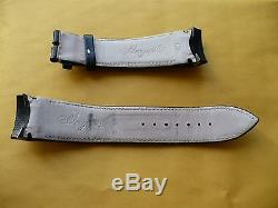 Genuine Breguet Black Leather Padded & Stithed Strap for Type XXI Translantaque