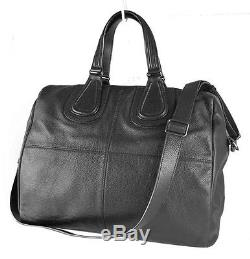 Givenchy Black Calfskin Leather Nightingale Tote Bag With Strap