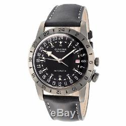 Glycine Men's GL0246 Airman Vintage The Chief GMT Automatic 40mm Grey PVD