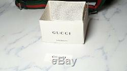 Gucci GG Canvas Belt Bag with Web Strap Style 28566 Black
