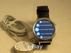 Huawei 55020533-RF Smart Watch Stainless Steel with Black Leather Strap