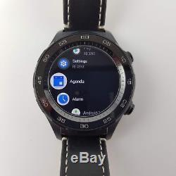 Huawei Watch 2 Carbon Black Plastic Case Leather Strap Band Smartwatch