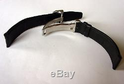 IWC 18mm Black Leather Strap and Steel Deployant Buckle for PILOT & Mark Watches