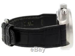IWC Pilot Chronograph 43mm Mens Black Leather Strap Watch IW3777-01 IW377701