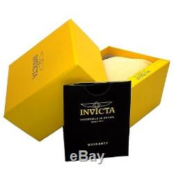 Invicta 12171 Men's Specialty Swiss Made Sunray Silver Dial Black Leather Strap