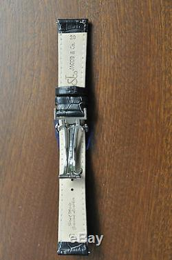 Jacob & Co Black Leather Strap 20 mm Band Bracelet for 40 mm Watch