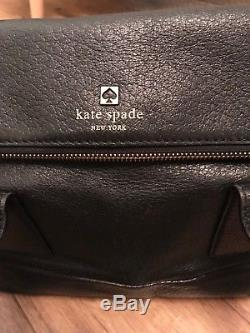 Kate Spade Black Leather Bag With Removable Strap. Original Dust bag Included