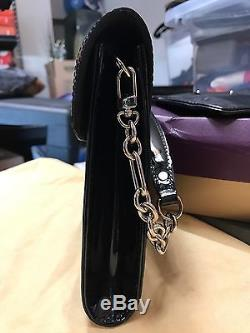 Louis Vuitton Eli Leather Black Clutch Handbag Withremoval Chain Strap