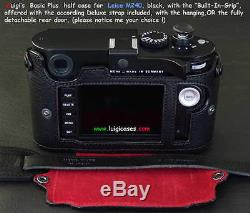 Luigi Black Basic Plus Case+grip 4 Leica Mp240mm246, Other, Deluxe Strap, Shipping